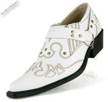 Белые туфли казаки «Garant»