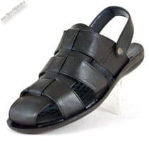 Черные шлепанцы-сандалии «Oskon»