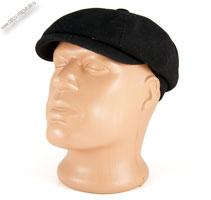 Черная кепка восьмиклинка «Denkor»