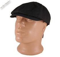 Летняя черная кепка-восьмиклинка «North»