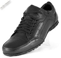 Кроссовки кожаные черные «Fossa Life»