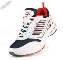 Черно-красно-белые кроссовки «Bona»