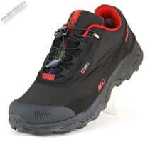 Зимние черно-красные кроссовки термо