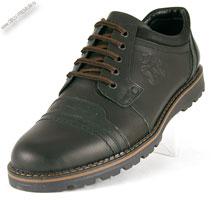 Черные ботинки из нубука «Arman»