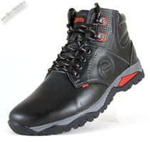 Зимние черно-красные ботинки «Alexander»