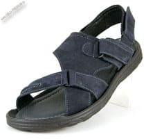 Кожаные сандалии-шлепанцы синие «Garant»