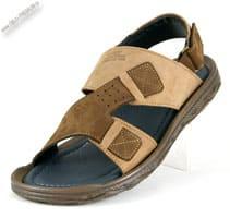 Кожаные сандалии коричневые «Garant»