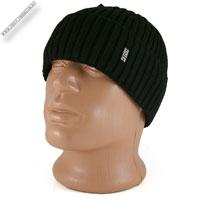 Черная вязаная шапка «VISUVIUS»
