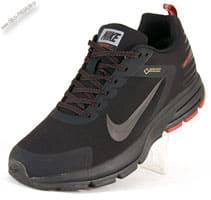 Зимние черно-красные термо кроссовки