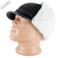 Меховая шапка с белым мехом